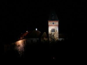 Vimperský zámek při nočním osvětlení (foto J. Hromas)